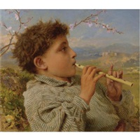 shepherd's pipes, capri by sophie anderson