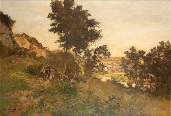 paysage aux rochers by louis alexandre cabié