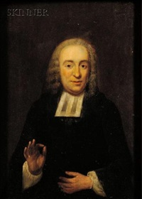 portrait of dominie daniel serrurier by jan maurits quinkhardt