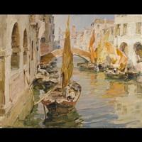 chioggia, canale vena dal ponte delle zitelle by angelo brombo