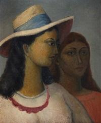 dos mujeres - una con sombrero by emilio rosenblueth