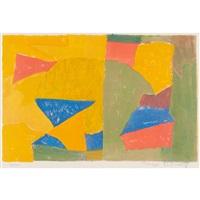 composition jaune, verte, bleue et rouge (rivière 10) by serge poliakoff