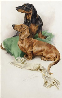 the dachshunds by arthur wardle