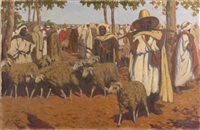 marché aux moutons by gustave lino
