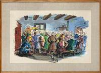 ilustracja do vii księgi pana tadeusza - rada by tadeusz gronowski