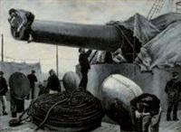 la canonnière by leon-antoine-lucien couturier