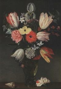 bouquet de fleurs au coquillage by philippe de marlier