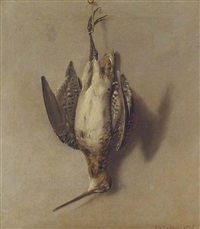 a dead snipe hanging from a nail by john francis sartorius