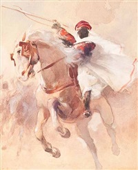 the arab horseman by cesare biseo