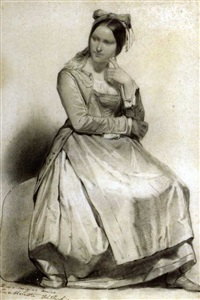 studio di donna in costume by filippo peschiera
