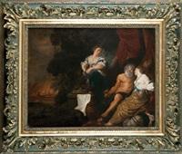 herkules no rozstajnych drogach (+ lot z córkami, lrgr; pair) by johann liss