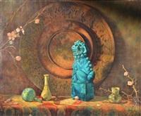 green lion of buddha by hovsep pushman