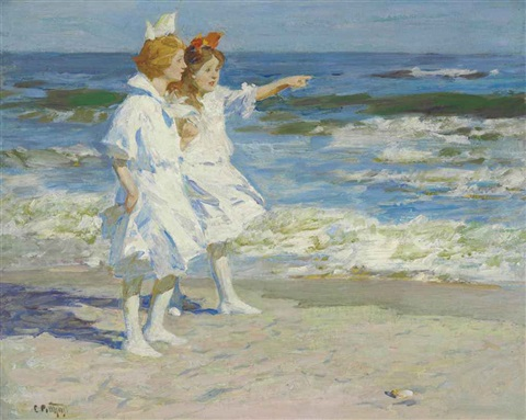 girls on the beach by edward henry potthast
