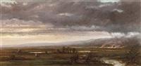 fire at twilight by alexander ferdinand wust