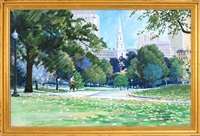 boston common looking toward park street church by jon smith