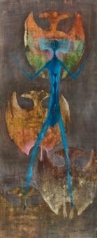 bat-men (how true my love) by leonora carrington