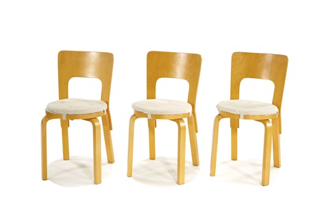 dining suite set of 8 by alvar aalto
