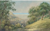 old town, hastings (+ a view of weymouth; pair) by alfred pizzey newton