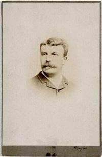guy de maupassant (1850-1893), portrait en buste by wilhem benque