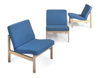 3 lounge chairs (collab. w/torben lind) by ole gjerlov knudsen
