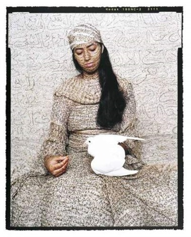 harem girl with dove by lalla essaydi