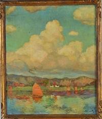 bateau sur un plan d'eau by wladimir krivoutz