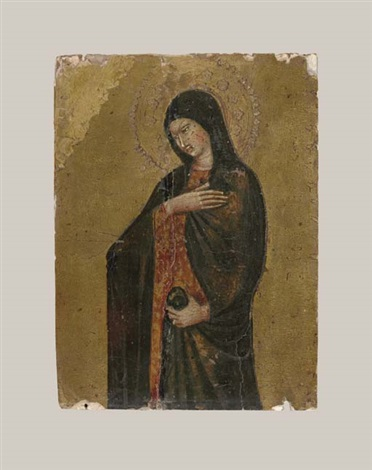 the virgin annunciate right wing of a portable tabernacle by giovanni di paolo
