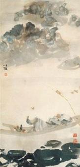 渔翁图 by fu xiaoshi
