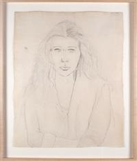 portrait of the artist's wife, claudine hermann meschers by ellsworth kelly