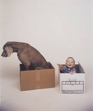 a commissioned portrait by the artist by william wegman