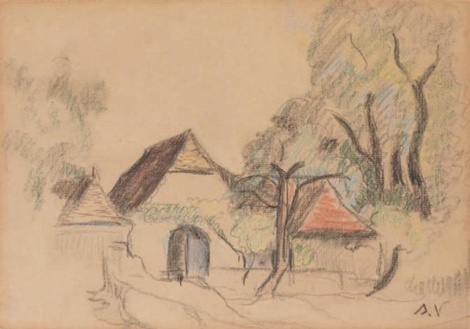 paysage de saint bernard by suzanne valadon