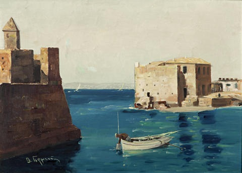 entering the harbor by vasilis germenis