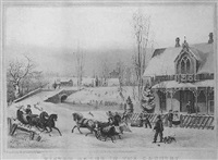 winter scene in the country by joseph hoover