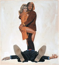 is this any way to begin a love affair? (poster design for somebody killed her husband) by robert tanenbaum