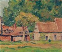 french village by frank milton armington
