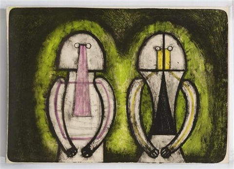 dos personajes by rufino tamayo