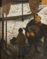 fischverkäuferin by josef multrus