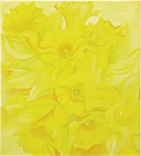 yellow jonquils iv by georgia o'keeffe