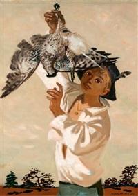 jeune homme à la perdrix by lucien joseph fontanarosa