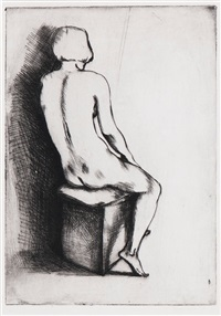 seated nude by edgar ende