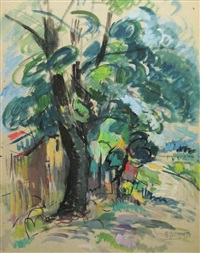 the tree near the fence by iosif rosenbluth