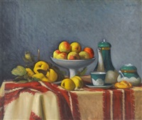 still life with apple by andrás mikola