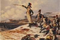 scène de bataille by george bertin scott
