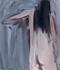 femme nue de dos le bras levé by fermin aguayo