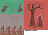 monk series on franciscan life (25 works) by somhairle maccana