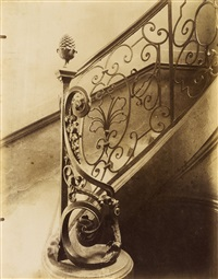 escalier, 83 rue charlot by eugène atget