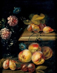 nature morte de fleurs et de fruits by christian berentz