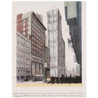 wrapped building, project for #1 times square (schellmann 187) by christo and jeanne-claude