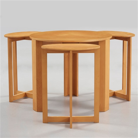 A Hi Gruppen Nest Of Four Cherry Tables By H I Gruppen A HI Gruppen Nest.