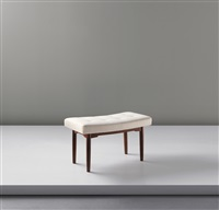 unique and important stool (from the royal suite, radiohuset (national broadcasting house), copenhagen) by vilhelm lauritzen